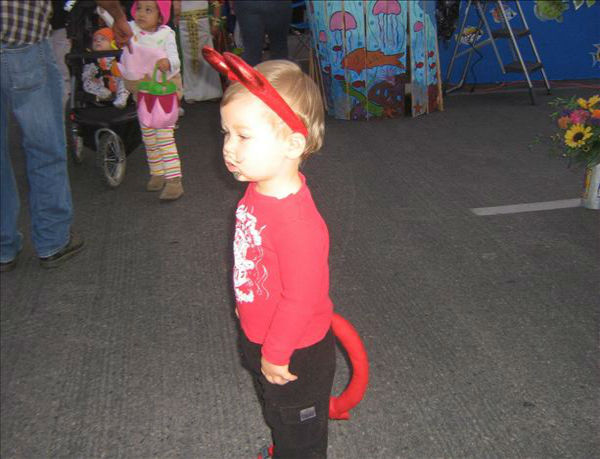 First time at a trunk or treat.  Cole was a little overwhelmed. <span class=meta>(KFSN Photo&#47; uReport.abc30.com)</span>