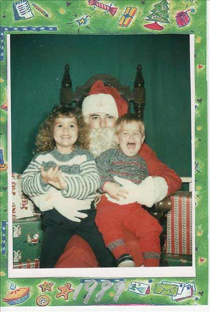 My son was screaming as soon as I sat him on Santa&#39;s lap, so I just said &#34;take it, take it!&#34;. Wondering now why wherever this was taken, they hired an 18 year old to play Santa! <span class=meta>(uReport - Chargermama)</span>