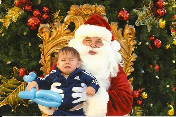 Jake is NOT a Santa Fan - This is Jake and his first visit with Santa &#40;2011&#41;.  He just turned 1 in November, and hated every second of it! <span class=meta>(Kristi - uReport)</span>