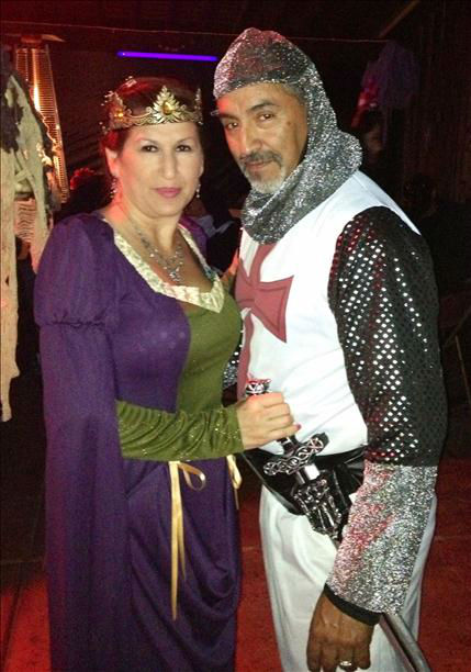 "<div class=""meta ""><span class=""caption-text "">My husband & I at a Halloween party last week. Lady in waiting w her knight Susan & Lupe Rivera (KFSN Photo/ uReport)</span></div>"