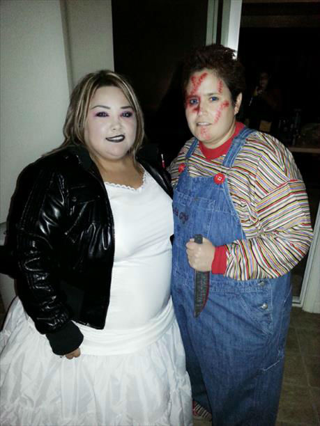 "<div class=""meta ""><span class=""caption-text "">Jessie Hernandez is Chucky and Elena Murillo is the bride. (KFSN Photo/ uReport)</span></div>"