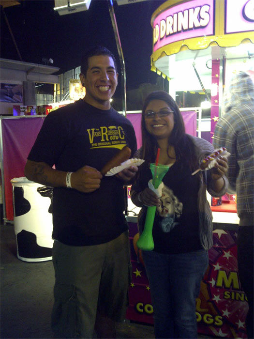 Danny and Jacky Carrillo love the Fresno Fair. <span class=meta>(Jacky)</span>