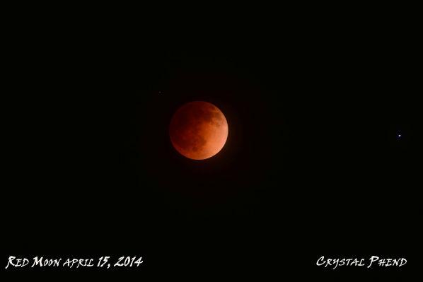 Blood moon as seen around the Valley <span class=meta>(KFSN Photo&#47; Facebook &#47; Crystal Phend)</span>