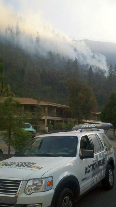 Motor Fire Near El Portal And Yosemite <span class=meta>(KFSN Photo&#47; Action News Reporter Rick Montanez)</span>