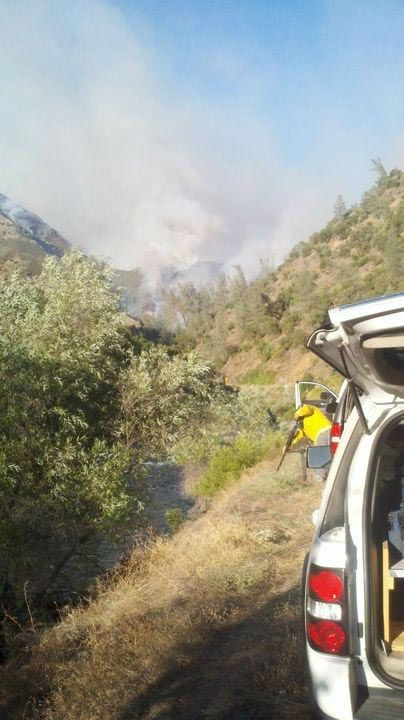 "<div class=""meta ""><span class=""caption-text "">Motor Fire Near El Portal And Yosemite (KFSN Photo/ Action News Reporter Rick Montanez)</span></div>"