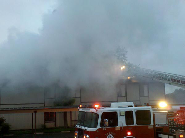 The cause of the fire is currently under investigation. <span class=meta>(KFSN Photo)</span>