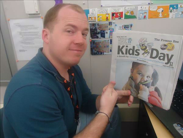 Just wanna give you this picture of me with Kids Day paper. Name&#39;s Alexander Sanborn. Thank you :-&#41; <span class=meta>(KFSN Photo&#47; uReport)</span>