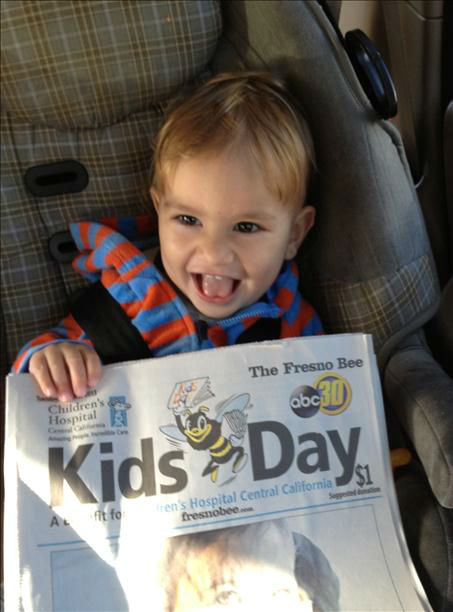 Evan&#39;s Kids Day paper! <span class=meta>(KFSN Photo&#47; uReport -  Sara Diaz)</span>