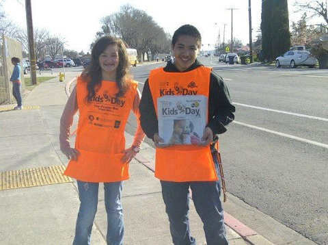 Thousands of volunteers, including Action News reporters and anchors, were on street corners all over the Central Valley selling special editions of the Fresno Bee for &#36;1 dollar. All the money raised goes directly to Children&#39;s Hospital Central California. <span class=meta>(KFSN Photo&#47; uReport)</span>