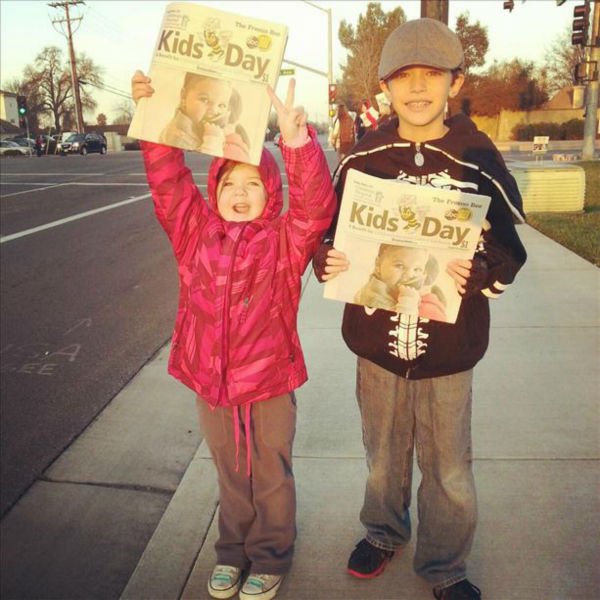 "<div class=""meta image-caption""><div class=""origin-logo origin-image ""><span></span></div><span class=""caption-text"">Thousands of volunteers, including Action News reporters and anchors, were on street corners all over the Central Valley selling special editions of the Fresno Bee for $1 dollar. All the money raised goes directly to Children's Hospital Central California. (KFSN Photo/ uReport)</span></div>"