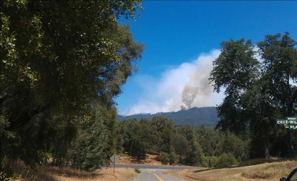 Carstens Fire in Mariposa County <span class=meta>(KFSN Photo&#47; uReport &#47; Bryans)</span>