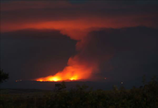 "<div class=""meta ""><span class=""caption-text "">Carstens Fire in Midpines, 9:30pm June 16th, from Merced Ca (KFSN Photo/ uReport / Christine_H)</span></div>"
