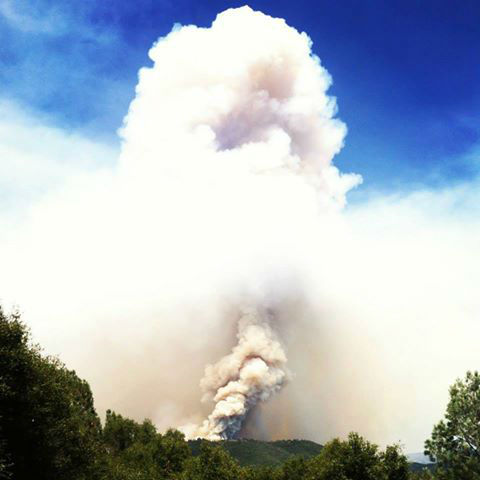 Carstens Fire in Mariposa County -- Taken from Mariposa, off of Carleton&#47;Triangle Road <span class=meta>(KFSN Photo&#47; Facebook &#47; Cheyenne M. Lopez)</span>