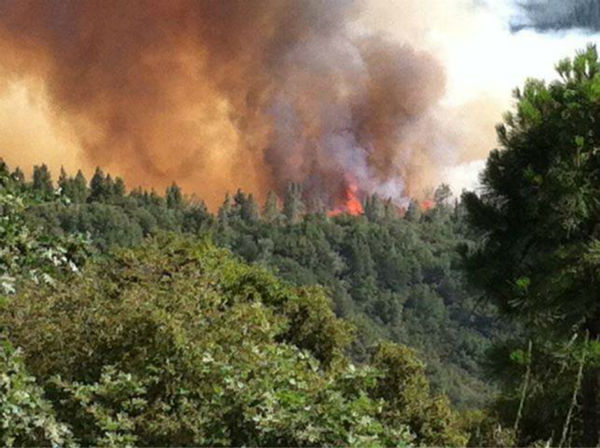 Carstens Fire view in Jerseydale <span class=meta>(KFSN Photo&#47; Facebook &#47; Shelly Sprague Jouett)</span>