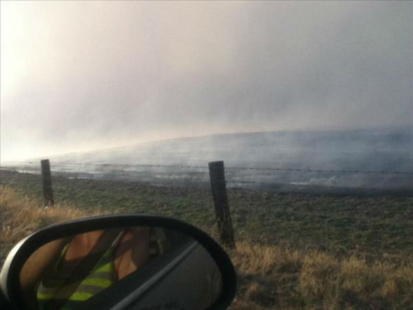 The &#34;Rolling Fire&#34;. On Highway 41 and 145 - June 17th <span class=meta>(KFSN Photo&#47; uReport)</span>