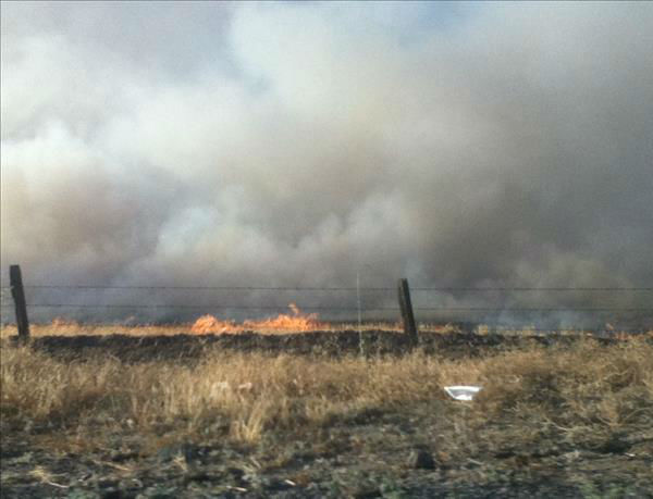 The &#34;Rolling Fire&#34;. On Highway 41 and 145 - June 17th <span class=meta>(KFSN Photo&#47; uReport &#47; Hayley6917)</span>