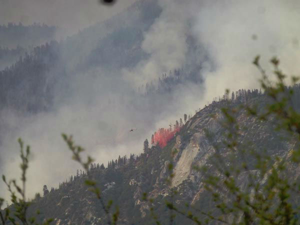 Aspen Fire Looking from Power House 8 <span class=meta>(KFSN Photo&#47; Facebook &#47; Alyssa Bethel)</span>
