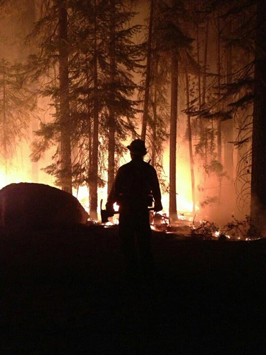 Firefighter at the Aspen Fire