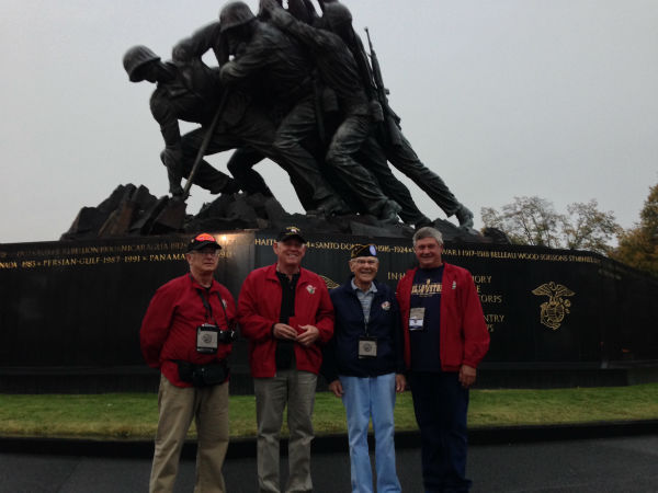 Local Marines at Iwo Jima Memorial <span class=meta>(KFSN Photo&#47; Warren Armstrong)</span>