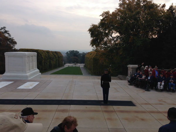 "<div class=""meta ""><span class=""caption-text "">Honor Flight at Arlington National Cemetery (Warren Armstrong)</span></div>"