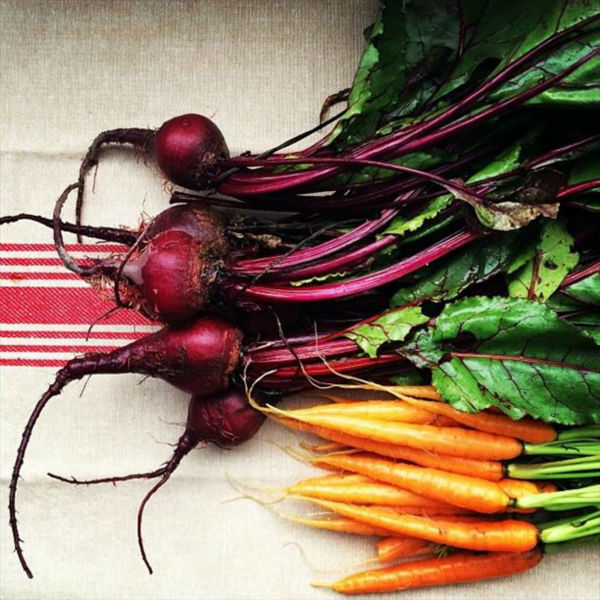"<div class=""meta ""><span class=""caption-text "">Baby carrots and beets from The Vineyard Farmer's Market. It's what's for dinner. (KFSN Photo/ Instagram / pinchmysalt)</span></div>"