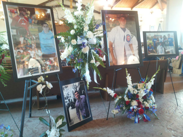 Photos of AJ Pardo inside Holy Cross Catholic Church in Porterville.  <span class=meta>(KFSN Photo&#47; Linda Mumma)</span>