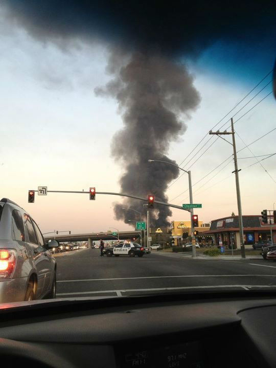 "<div class=""meta ""><span class=""caption-text "">Future Ford car dealership fire in Clovis -- All images were sent in by our viewers through uReport@kfsn.com and Facebook.</span></div>"