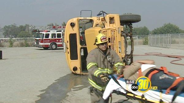 Simulated School Bus Crash Instructional For Drivers