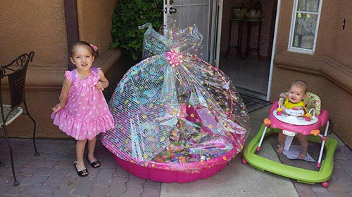 Rosa Nelly Sanchez&#39;s daughters&#39; Easter basket -- Dulce and Cielo. <span class=meta>(Facebook &#47; Rosa Nelly Sanchez)</span>