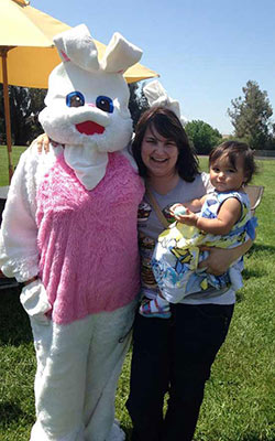 "<div class=""meta ""><span class=""caption-text "">Photo with the Easter bunny. (Facebook / Angela Marchelletta-Saldana)</span></div>"