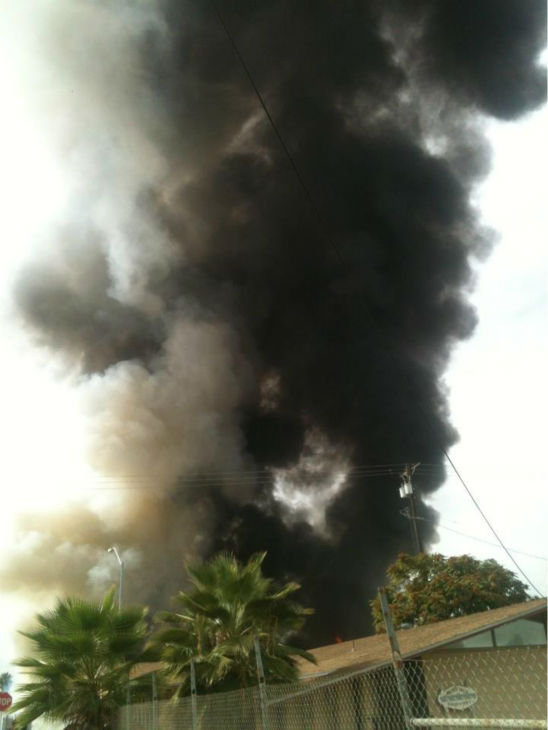 Check out photos from a large fire in East Central Fresno.  These photos were submitted by Action News viewers through either Facebook or uReport@kfsn.com.