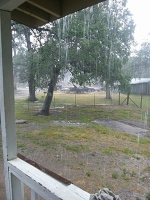 Hail in Coarsegold. <span class=meta>(Facebook &#47; Karri Cox)</span>