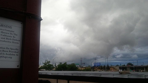 Crazy clouds near Sunsets Apartments in Fresno. <span class=meta>(Facebook &#47; Ben Hernandez)</span>