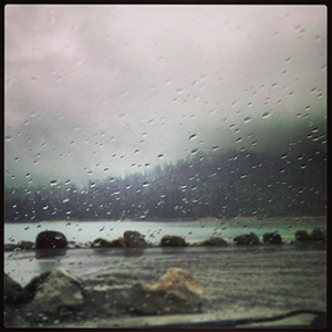 Rain in Bass Lake. <span class=meta>(Facebook &#47; Wyatt Bales)</span>