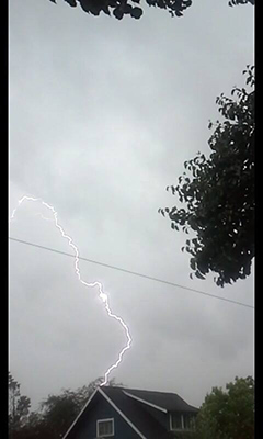 Lightning over Fresno. <span class=meta>(Facebook &#47; Becky Washburn)</span>