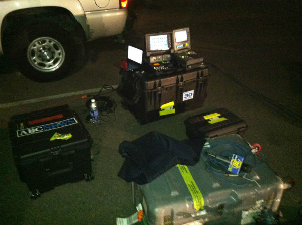 This is where we edited some of our stories, in the parking lot. <span class=meta>(KFSN Photo&#47; Rick Montanez)</span>