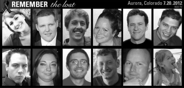 The 12 people who lost their lives in the mass shooting.