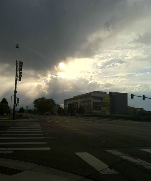 The sun peaking through after a thunderstorm. <span class=meta>(KFSN Photo&#47; Rick Montanez)</span>