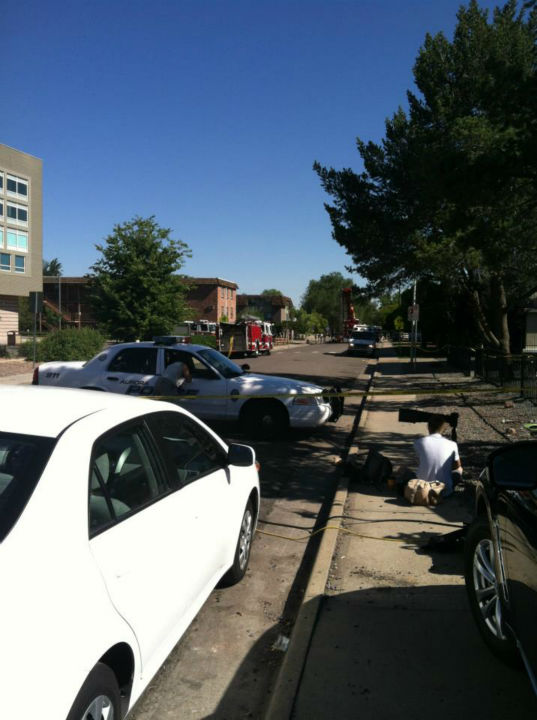 The scene outside the shooter&#39;s apartment. <span class=meta>(KFSN Photo&#47; Rick Montanez)</span>