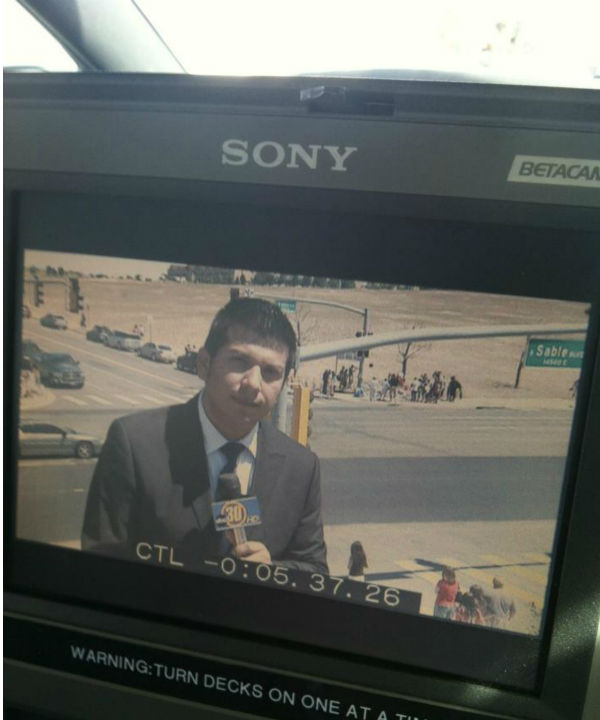 Reporting in Aurora, CO. Rick Montanez ABC30 Action News <span class=meta>(KFSN Photo&#47; Rick Montanez)</span>
