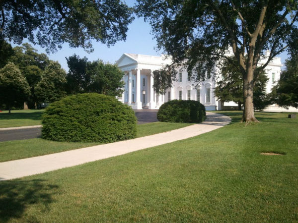 Action News has arrived at the White House. <span class=meta>(KFSN Photo&#47; ABC30)</span>