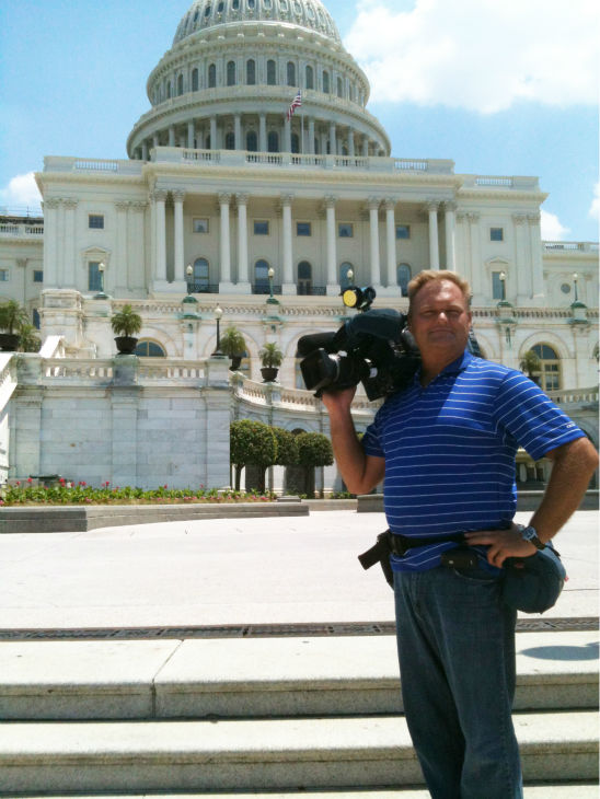 Action News Photojournalist Richard Harmelink at the US Capitol. <span class=meta>(KFSN)</span>