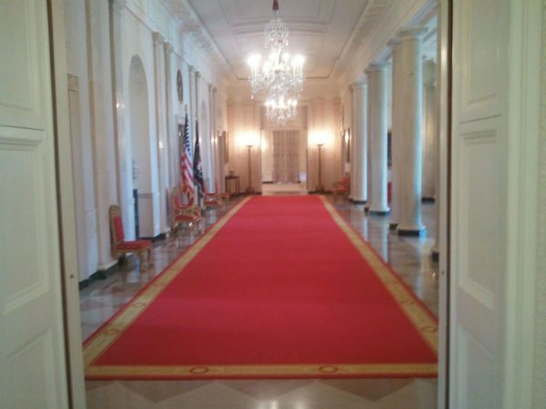 The White House East Room where President Obama...