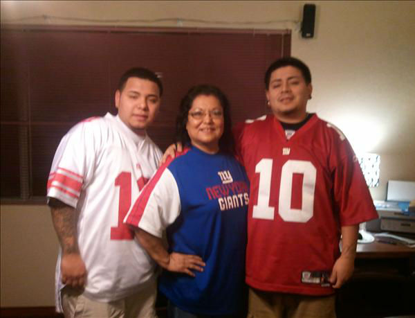 My mama Alicia Aguila n nephews Ala n Victor Aguila. Go GIANTS <span class=meta>(KFSN Photo&#47; uReport)</span>