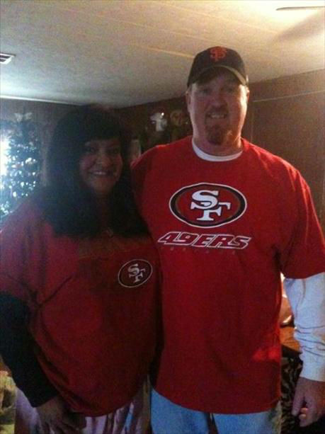 "<div class=""meta ""><span class=""caption-text "">Ed and Juanita Ferguson getting ready for some football! Go Niners!!! (KFSN Photo/ uReport)</span></div>"
