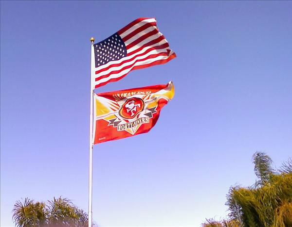 Proudly flying BOTH flags! <span class=meta>(KFSN Photo&#47; uReport)</span>