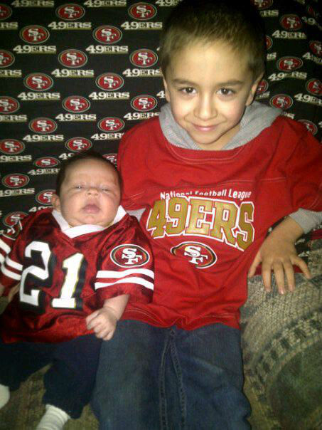 "<div class=""meta image-caption""><div class=""origin-logo origin-image ""><span></span></div><span class=""caption-text"">My Boys are ready for the San Francisco 49ers Game!!! (KFSN Photo/ uReport)</span></div>"
