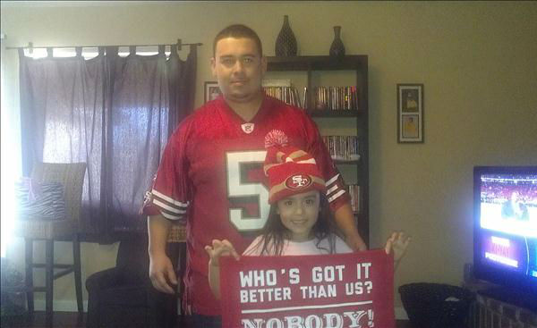 49ers fans from around the Valley <span class=meta>(KFSN Photo&#47; uReport)</span>