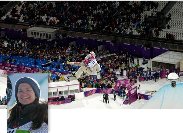 "<div class=""meta image-caption""><div class=""origin-logo origin-image ""><span></span></div><span class=""caption-text"">Kelly Clark wins Bronze in Women's Halfpipe  Kelly Clark, who smacked the wall during her first run in the finals, recovered to earn bronze and win her third Olympic medal. Teammate Kaitlyn Farrington won gold in the event.  ------ See previous photo for more details on this event.  ------   PHOTO: United States' Kelly Clark competes to win the bronze medal in the women's snowboard halfpipe at the Rosa Khutor Extreme Park, at the 2014 Winter Olympics, Wednesday, Feb. 12, 2014, in Krasnaya Polyana, Russia.  (AP Photo/Andy Wong)</span></div>"