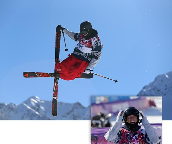 "<div class=""meta ""><span class=""caption-text "">Gus Kenworthy wins silver in Men's Skiing Slopestyle  Americans Joss Christensen, Gus Kenworthy and Nick Goepper swept the podium in men's slopestyle skiing Thursday. The podium sweep was just the third for the U.S. in Winter Olympic history, joining men's figure skating in 1956 and men's halfpipe snowboarding in 2002.  See previous image for more details on this event.  ------  Main Image: Gus Kenworthy of the United States competes in the men's ski slopestyle final to win the silver medal at the Rosa Khutor Extreme Park, at the 2014 Winter Olympics, Thursday, Feb. 13, 2014, in Krasnaya Polyana, Russia. (AP Photo/Sergei Grits)  Lower Right: Silver medal winner Gus Kenworthy of the United States celebrates after his finish in the men's ski slopestyle final at the Rosa Khutor Extreme Park, at the 2014 Winter Olympics, Thursday, Feb. 13, 2014, in Krasnaya Polyana, Russia. (AP Photo/Gero Breloer) (AP Photos / Sergei Grits and Gero Breloer)</span></div>"